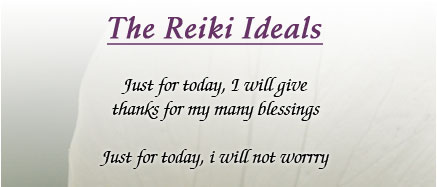 The Reiki Ideals